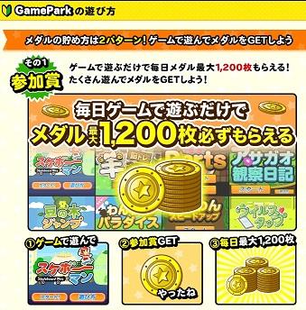 参加賞で毎日12円