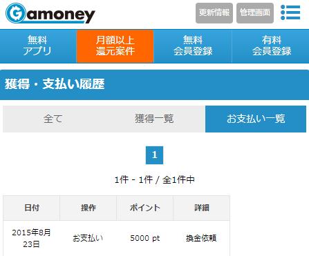 Gamoney Amazonギフト券選択3