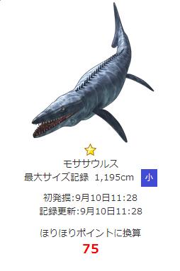 こんな感じのモササウルス