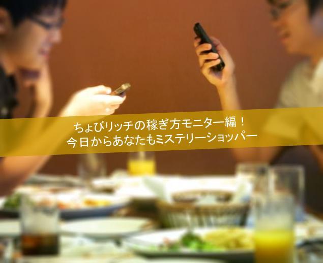 ちょびリッチの稼ぎ方モニター編!