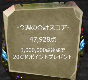 3,000,000点達成で20CMポイントボーナス