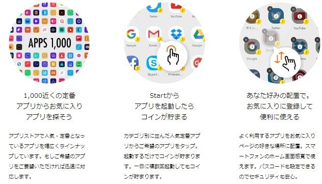 startのアプリは1000種類