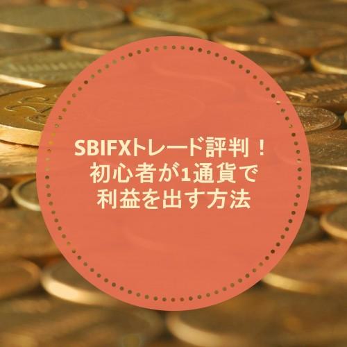 SBIFXトレード評判!初心者が1通貨で利益を出す方法