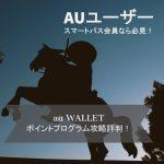 au WALLETポイントプログラム攻略評判!auユーザー&スマートパス会員であれば必見!