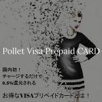 Pollet(ポレット)評判!国内初!チャージするだけで0.5%還元されるお得なVISAプリペイドカードとは!