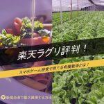 楽天ラグリ評判!スマホゲーム感覚で育てる有機栽培とは!新規決済で850円以上得する方法