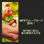 NTTグループカード評判!カード発行前に見ると最大17,200円得する方法
