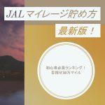 JALマイレージ貯め方2018年版!初心者必見ランキングで目指せ30万マイル【ANAソラチカ超えの方法】